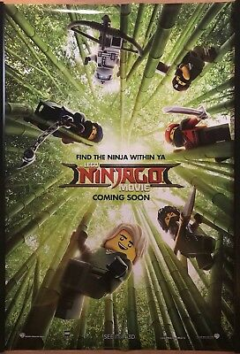 THE LEGO NINJAGO MOVIE Original UK Cinema One Sheet Poster.