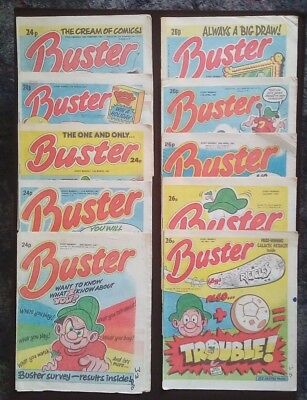 Vintage Buster Comics February 1987 - May 1987