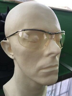 Renauld 60's Aviator Bubble-eye Sunglasses French Clear Lens Cycle Night Driving