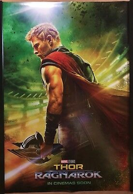 THOR RAGNAROK Original UK Cinema One Sheet Poster.