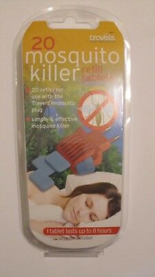 Travel Accessories Mosquito Killer Refill Tablets x 20 Freepost