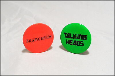 Talking Heads Lot Of 2 Vintage 70's Promo Buttons Pins Badges