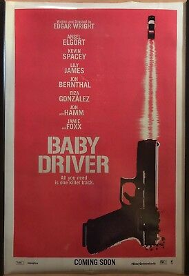 BABY DRIVER Original UK Cinema One Sheet Poster.