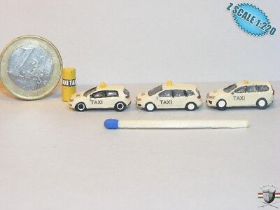 Taxi Station Volkswagen Ford Volvo  Z scale 1/220 Hand-painted Metal Model