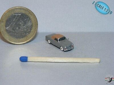"""Peugeot 403 Cabrio """"Columbo"""" Z scale 1/220 Hand-painted Metal Model"""