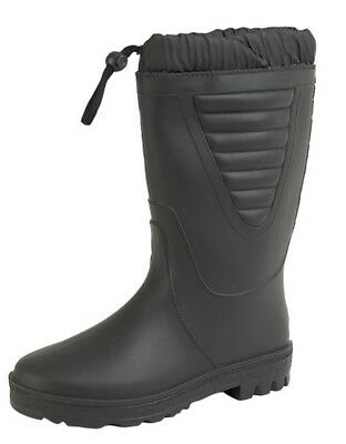 Mens Snow Winter Boots Thermal Fur Lined Wellington Wellies Black UK 6 - 12