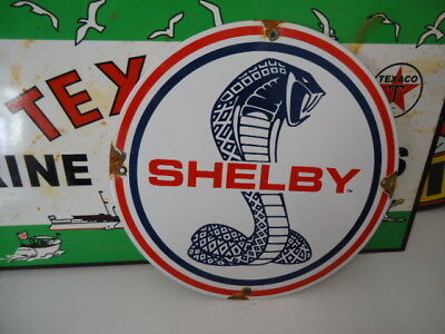 Rare Vintage Ford Shelby Porcelain  Dealership  Sign