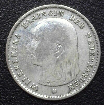 Netherlands 1897 Silver 10 Cents  Km#116, Y#20  Very Fine+