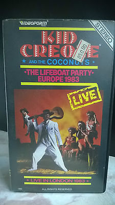 """Kid Creole And The Cocunuts """" The Life Boat Party Europe 1983"""" Rara Vhs"""