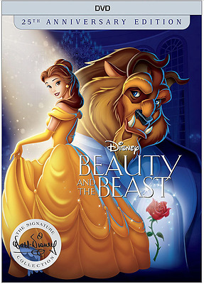 Beauty and the Beast DVD 25th Anniversary Collection Disney with Slipcover New
