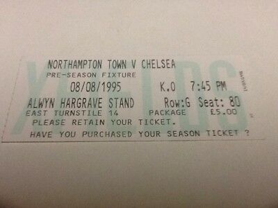 Northampton Town v Chelsea ticket. 8/8/1995