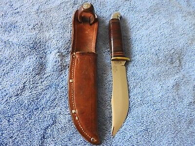 Western Boulder Official Boy Scout Fixed Blade Hunting Knife w/ BSA Sheath