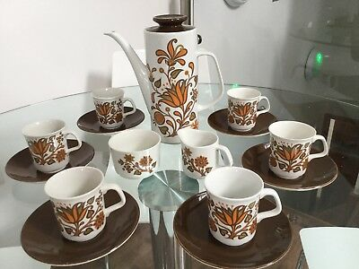 j & g meakin lotus coffee set