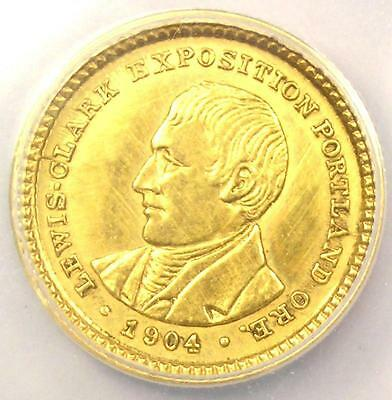 1904 Lewis & Clark Gold Dollar G$1 - Certified ANACS AU50 Details - Rare Coin!