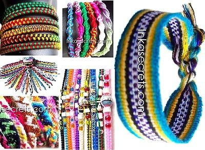 1000 Mixed designs friendship bracelets