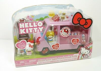RARE Hello Kitty Food Truck Cafe W/ Accessories Sanrio/Jada Toys NEW SEALED