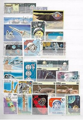 SPACE PLANETS ASTRONAUTS THEMATIC TOPICAL STAMP COLLECTION  LOT No.17131017