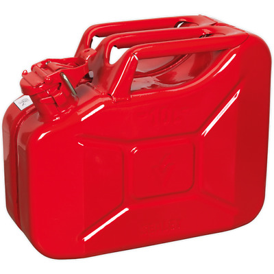 Sealey Metal Jerry Can 10l Red
