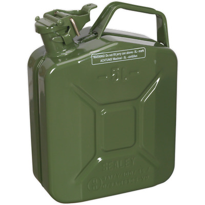 Sealey Metal Jerry Can 5l Green