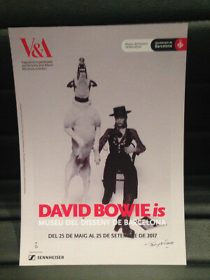 DAVID BOWIE is PROMOTIONAL FLYER BARCELONA 2017 CATALAN (LARGE)