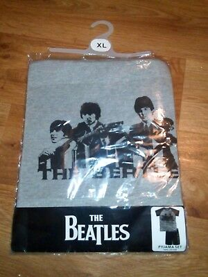 the beatles size xl pj's shorts and t-shirt brand new
