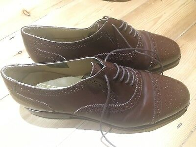 mens Vintage brown brogues size 8 Samuel Windsor