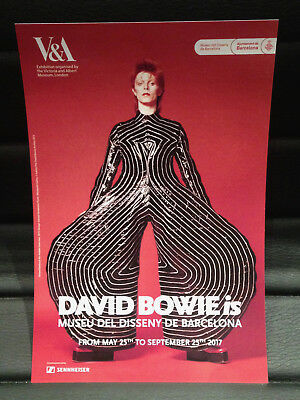 DAVID BOWIE is PROMOTIONAL FLYER BARCELONA 2017 ENGLISH (MEDIUM)