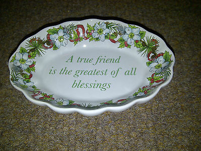 Spode Dish True Friend Holidays 2007 A True Friend Is The Greastest Of All
