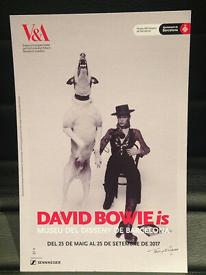 DAVID BOWIE is PROMOTIONAL FLYER BARCELONA 2017 CATALAN (MEDIUM)
