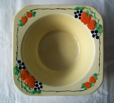 H J WOOD BURSLEY WARE Art Deco Period FRUIT BOWL Great Condition For Age
