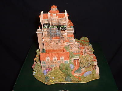 Walt Disney Lilliput Lane The Hollywood Tower Hotel LE 102/400 Figurine COA BOX