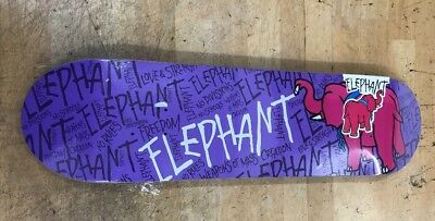 RARE PURPLE ELEPHANT Brand Skateboard DECK Mike Vallely Weapons Of Mass Creation