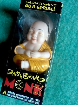 Dashboard Buddhist Monk Bobble Head Springy Car Dash Ornament By  Accoutrements