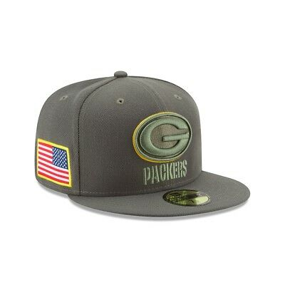 New Era NFL GREEN BAY PACKERS Salute to Service 2017 Sideline 59FIFTY Game Cap N