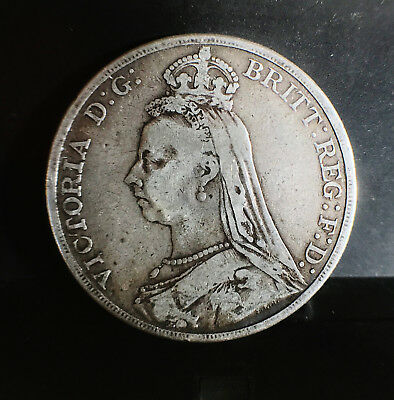 1889 Queen Victoria Crown F