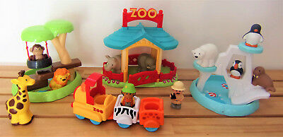 * Zoo LITTLE PEOPLE  * FISHER PRICE *  Banquise, chapiteau, savane * TBETAT ! *