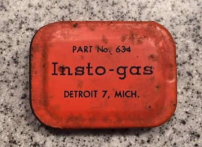 Vintage 1950s Insto-gas Metal Tin Screw on Tips Detroit Michigan Part No 634