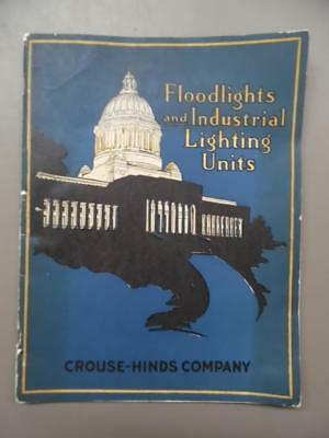 1928 Crouse Hinds Industrial Lighting Catalog Light Fixture Searchlight Vintage