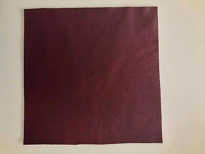 "Dark Red Brown Nappa Leather Skin Aniline Cow 2.5mm thick 12""x12"" various size"