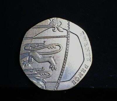 An undated 20p coin.