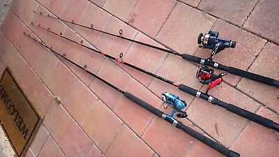 Three fishing rods & reels  2 x Penn,1 x  ABU - Sydney North pickup