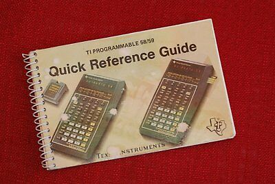 TI59 TI58 Programmable Quick Reference Guide