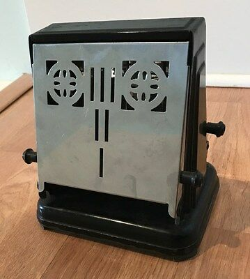Antique Two Slice Flip/Over Chrome Electric Toaster w/ cord- Very Good Condition