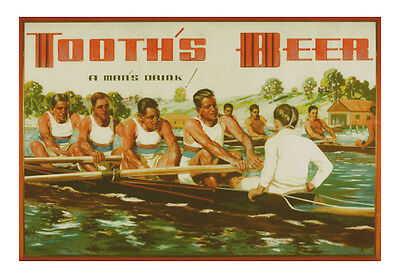 Tooth's Beer Fours paper poster 600x900mm rowing bar