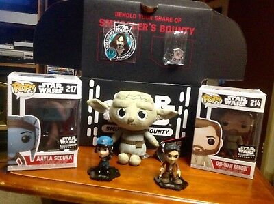 Star Wars Funko Pop Smugglers Bounty Exclusive Pops, Plush & Mystery Minis  MIB