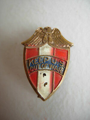 Pre Wwi Woodrow Wilson Pin Keep Us Out Of War