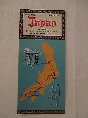 1959 Japan Travel Vintage Tour Guide Pamphlet PAN AMERICAN