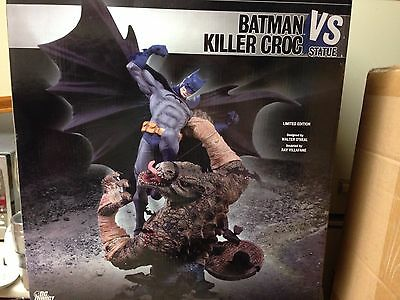 DC Direct Batman vs Killer Croc Statue First Edition 628/1500 Mint Save $ SeeHow