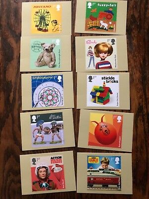Royal Mail Classic Toys Post Cards .. Full Set