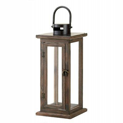 Perfect Lodge Wooden Lantern Candle Holder Hangs Stands Home Garden Decor WOW